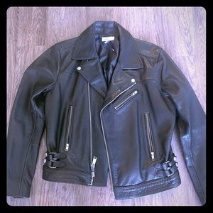 (Nordstrom) Calibrate Mens leather Jacket size M.